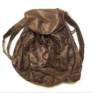 Mossimo Mini Backpack Animal Print Faux Leather